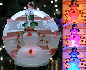 Snowman and Star Ornament LED Color-changing