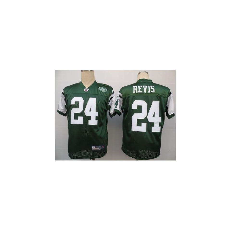Wholesale Darrelle Revis #24 Green NFL New York Jets Football Jersey Sz54 on  hot sale