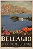 C1926 Vintage Travel ITALY See BELLAGIO, LAGO DI COMO by Livio Apolloni 250gsm ART CARD Gloss A3 Reproduction Poster
