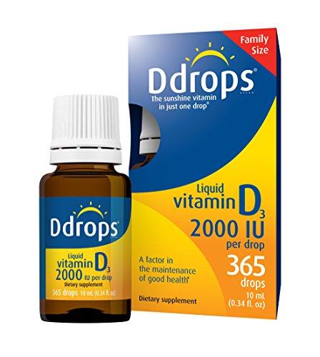 Ddrops 2000 IU 365 drops 0.34 Fl Oz (10ml) (Ddrops 2000 compare prices)