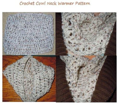 Craftdrawer Craft Patterns - Crochet a Cowl Neck Warmer Pattern - Chunky Cowl Neck Crochet Pattern