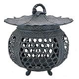 竹中銅器 庭置物 蛇籠燈籠 小 52-04