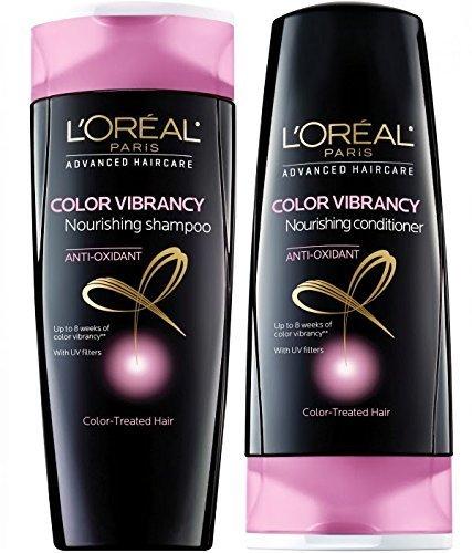 L'oreal Advanced Haircare Color Vibrancy Shampoo & Conditioner, 12.6 Fl. Oz. (Loreal Conditioner Color Vibrancy compare prices)