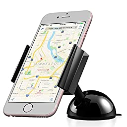 Car Mount, Vena DASH55 [One Hand] Universal Dashboard Windshield Phone Holder for iPhone SE 6S 6 Plus 5, Galaxy S7 S7 Edge S6 Edge S5, LG G5 G4 Smartphones (3.5-6.3 inch)