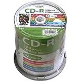 磁気研究所 HI DISK CD-R データ用 700MB 52倍速 ワイドエリアホワイトプリンタブル スピンドルケース 100枚 HDCR80GP100