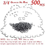 HARDK Hog Ring Pliers & 300 Galvanized Hog Rings - Professional Upholstery Installation Kit… (500 Rings)