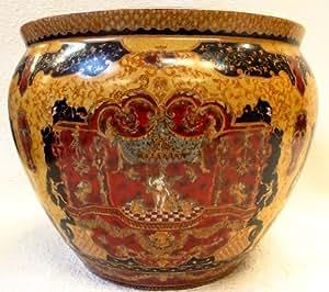 Golden goddess porcelain fish bowl 18 home for Fish bowl amazon