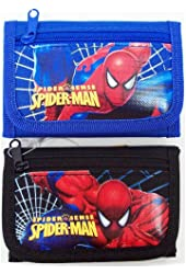 SPIDER MAN 3STEP WALLET -BLACK or BLUE