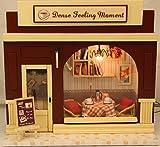 【福美康】ミニチュア ドール ハウス DIY カフェ コーヒーショップ 組み立て キット ハンドメイド 手作り お店シリーズ (カフェ)