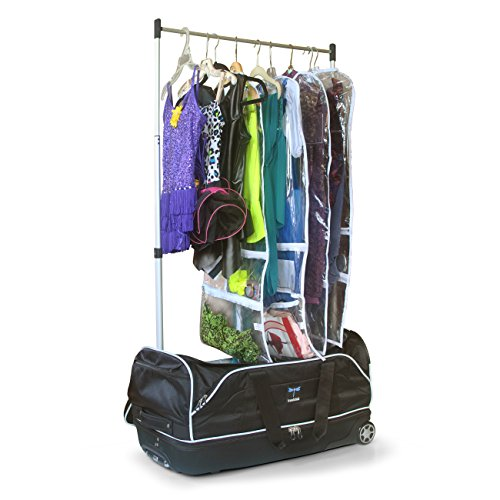 Wheeled Drop-bottom Duffel with Garment Rack 28