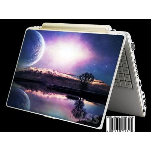 Laptop Skin Shop Laptop Notebook Skin Sticker Cover Art Decal Fits 13.3 14 15.6 16 HP Dell Lenovo Asus Compaq (Free 2 Wrist Pad Included) Blue Moon Scenery