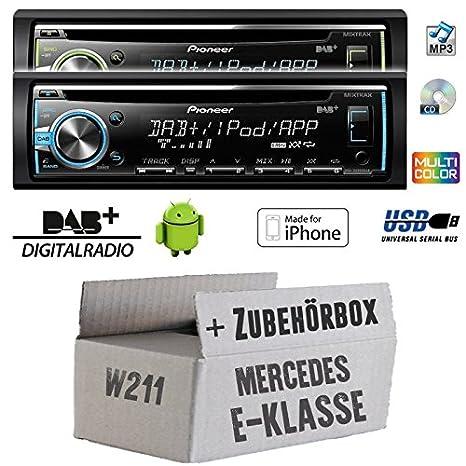 Mercedes classe e w211 pioneer dEH-x6800DAB dAB-cD/mP3/uSB avec dAB inclus et antenne