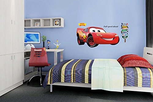 ufengke niedlichen comic auto rennwagen wandsticker. Black Bedroom Furniture Sets. Home Design Ideas