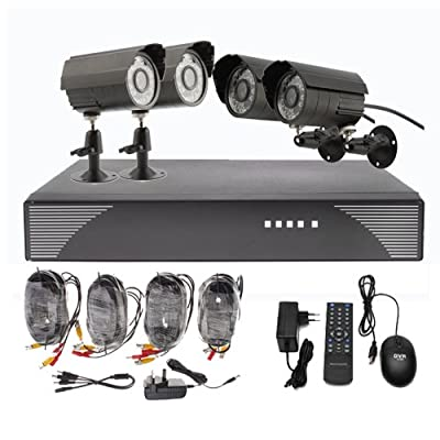 OUKU 4 Outdoor Day Night CCTV Home Video Surveillance Security Camera Kit