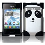 [Extra-Terrestrial]For LG Optimus Logic L35g / Dynamic L38c (StraightTalk/Net 10) Rubberized Design Cover - panda