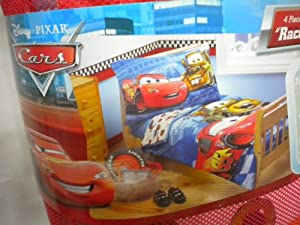 "Disney Cars ""Racing Team"" 4pc Toddler Bedding Set"