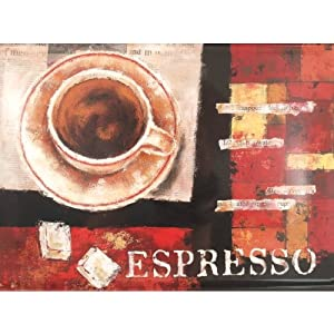 Espresso Coffee Melamine Serving Tray