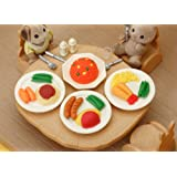 Iwako Japanese Erasers /Food /Lunch Plates / 4pcs.