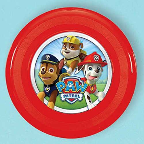 Amscan Amazing Paw Patrol Birthday Party Flying Disc (1 Piece), Red, 4""