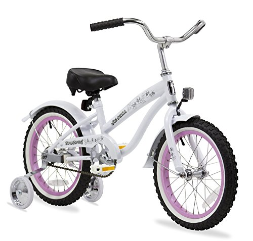 Firmstrong Girl's Bella Bicycle with Training Wheels (16-Inch, White/Pink Rims) (24 Beach Cruiser Rims compare prices)