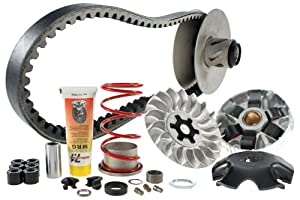 Transmission Kit Malossi MHR Overrange 2010 New version for 2010. This is a complete kit from the Malossi Hyper Racing (MHR) product line, consisting of complete rear pulley (i.e. fixed and movable parts), torque spring, MHR variator, fixed front pul...