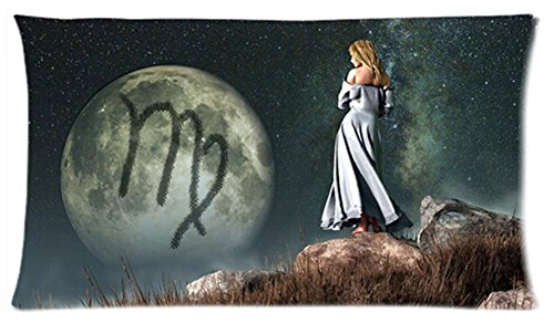One Side Custom Rectangle Virgo Of Zodiac Pillow Cases 20X36 Inch front-975922
