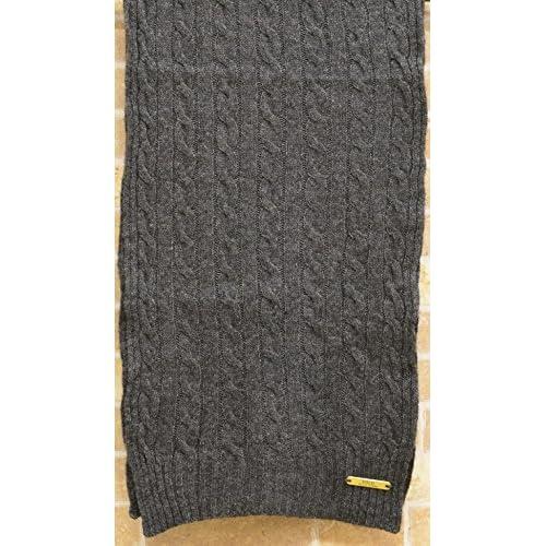 (ラルフローレン) Ralph Laurenクラシック ケーブル ド スカーフ マフラー グレー Classic Cabled Scarf Grey 並行輸入品