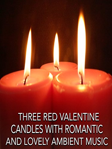 Calming Ambient Video of Three Lit Red Candles with Music