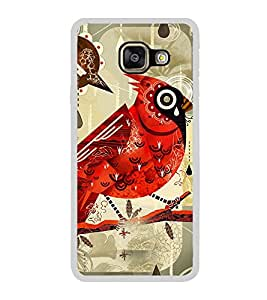ifasho Animated Pattern birds and flowers Back Case Cover for Samsung Galaxy A7 (2016)