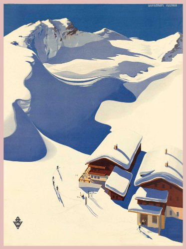 AUSTRIA Vintage Travel to WUNSCHHEIM Winter Sports 250gsm GLOSS ART CARD A3 Reproduction Poster