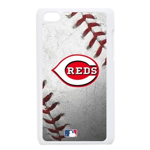 Generic Cell Phone Cases Cover For Apple Ipod Touch 4 Case Forever Collectibles Fashionable Designed Baseball Team Cincinnati Reds Background Durable Plastic Shell