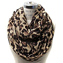 Scarfand\'s Leopard Infinity Scarf (Camel)