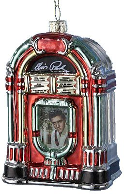 Elvis Presley Hand Crafted Glass Jukebox Christmas Ornament