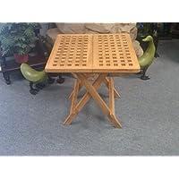 D-ART Teak Picnic Side Table SQUARE