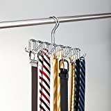 InterDesign Tie and Accessory Rack, Silver