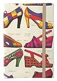 Herbin 83607T Carnet couverture rigide en papier avec élastique 96 pages A6 Motif embossé chaussures