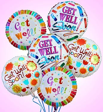 1-800-Flowers – Air-Rangement – Get Well Mylar Balloons – Half Dozen Balloons