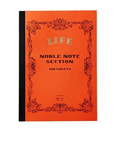 Life Co., Ltd. Noble Note Section A4 Grid Notebook, Orange