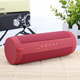 Wireless Bluetooth Speaker, Minkle® Mini Portable Outdoor Waterproof Shockproof Sprots Bluetooth Speaker for Iphone, Ipad, Samsung, Nexus, HTC and More(red0