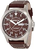 Invicta Men's 11185 Specialty Brown Dial Brown Leather Watch