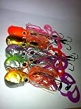 Set of 5 Octopus Jigs 4 Oz Each for Lingcod Snapper Rockfish Striped Bass Halibut Cod Cobia