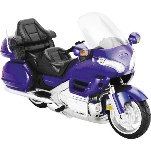 New Ray Honda Goldwing GL 1800 Replica Motorcycle Toy - Blue / 1:12 Scale
