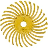 "Scotch-Brite Radial Bristle Disc, 35000 rpm, 1"" Diameter, 80 Grit, Yellow (Pack of 24)"