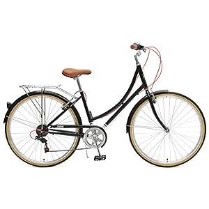 Critical Cycles Beaumont-7 Seven Speed Lady's Urban City Commuter Bike, Black, 44cm (Medium/Large)