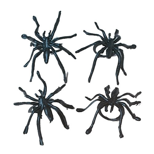 Plastic Spider Rings : package of 36