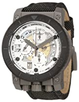 Jason Taylor for Invicta Collection 13052 Chronograph Silver Tone and Perforated Dial Black Fabric Watch