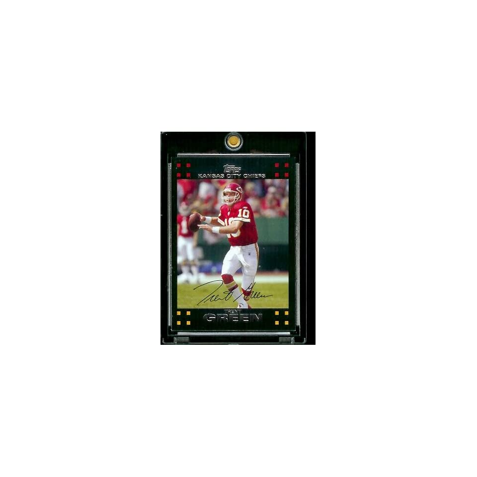 2007 Topps Football # 24 Trent Green   Kansas City Chiefs   NFL Trading Cards