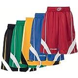 Spalding Teamsport Crunchtime Shorts schwarz/gold/weiß, Größe Spalding:XS