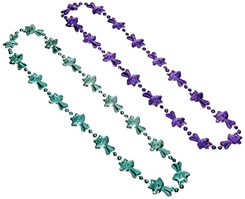 Beistle 40597 2-Pack Bunny Beads, 36-Inch, Multicolor