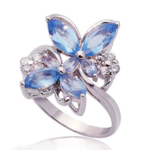 anillo para mujer diseño mariposas